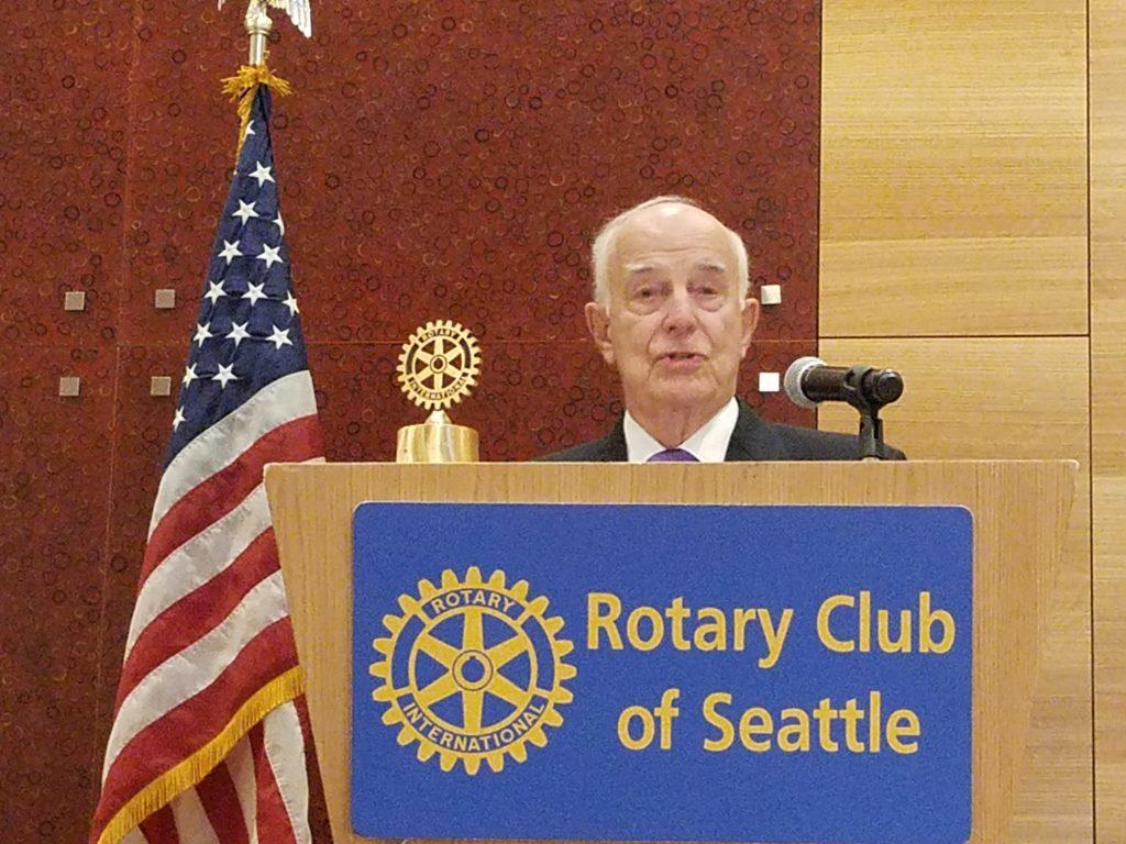 Washington State's past Governor Dan Evans